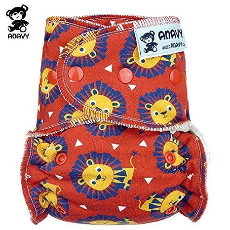 anavy höschen pañales – León (Rojo) – One Size (3,5 –