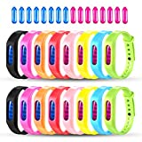 Mosquito Repellent Bracelet, 16 Pack 100% Natural Travel Insect Repellent Wristbands For Kids and Adults, Waterproof Bug Repellent Bands For Indoor and Outdoor Protection UP to 720Hrs (16 Repellents)