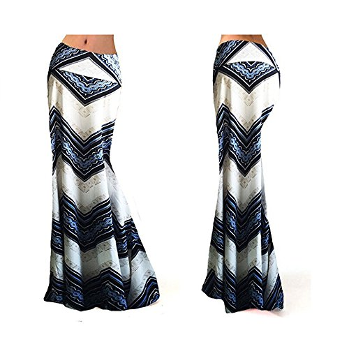 Monique Women Floral Print Long Maxi Skirt High Waist Full Skirt Summer Evening Party Beach Skirts