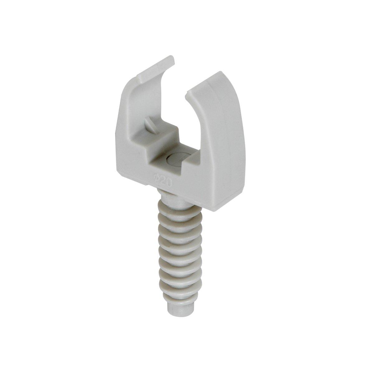 Debflex 709526 Clips cheville Diam/ètre 20 gris pour tube IRL 20 pi/èces