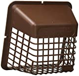 vent bird guard - Deflecto Universal Bird Guard Dryer Vent Cover, For Use with 4 Inches Clothes Dryer Vents, Brown (UBGBB)