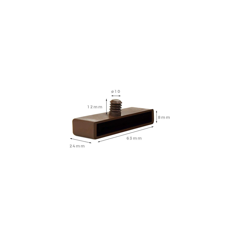 Amazon.de: 63 mm Halterungs-Kappen für Lattenroste mit Holzrahmen ...
