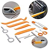 12PCS Stereo Radio Removal Repair Portable Tool Kits Car Audio Door Clip Panel Trim Dashboard Tool