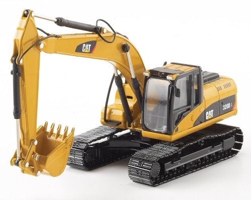 Excavator Diecast Collectible - Norscot Cat 320D L Hydraulic Excavator 1:50 Scale