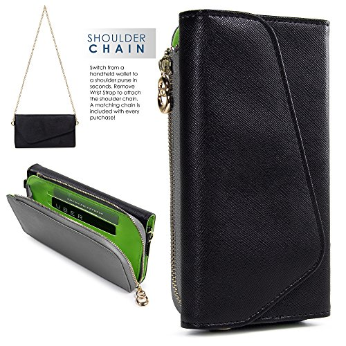 Kroo Samsung Z3, Galaxy S8 S7 S6 active S6 edge Case | Black/Grey Universal Crossbody Clutch & Wristlet [Lovely Color Schemes]