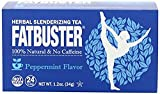 Fatbuster Weight Lost Herbal Slenderizing Tea Peppermint Flavor 24-Count (Pack of 4)