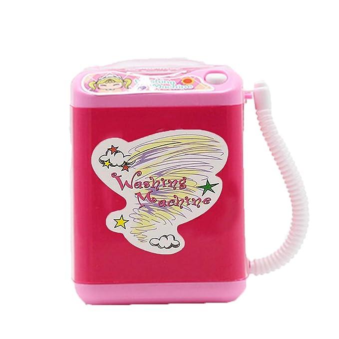 FORLADY Mini aparato para niños Lavadora Juguete Simulación Limpieza automática Lavadora Maquillaje eléctrico Cepillo Limpiar
