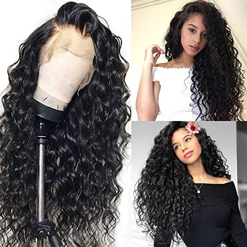 Brazilian Virgin Hair Loose Wave Full Lace Human Hair Wigs For Black Women 130% Density Pre Plucked Bleached Knots Lace Front Wigs Human Hair 10 Inch