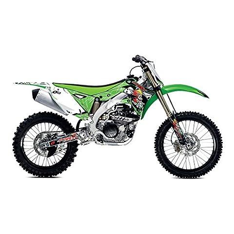 One Industries 2015 Kawasaki Moto XXX Series Graphic Kit - 62267 (Green - KXF 250 2013-2015) - One Industries Graphics Kits