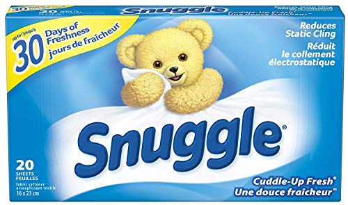 Snuggle Fabric Softner Dryer Sheets, Cuddle Up Fresh Scent, Reduces Static Cling - 480 Count by Snuggle (Image #7)
