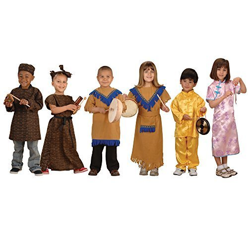 Constructive Playthings MTC-37 Global Ceremonial Costumes for Kids- Set of 6