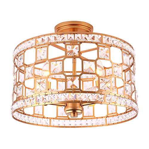 Modern LED Pendant Flush Mount Ceiling Fixtures Light American Ceiling Lamp  Crystal Light Hall Entrance Clearance