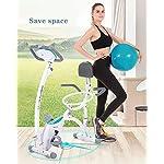 Spin-Bike-Cyclette-Verticale-per-Sport-Cyclette-Fissa-per-Studio-Indoor-con-Sfera-per-Yoga-E-Monitor-LCD-Allenamento-Aerobico-per-Fitness-Cardio-Bike