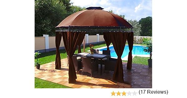 Groten Luxus Cenador redondo, poliéster, alta calidad, resistente ...