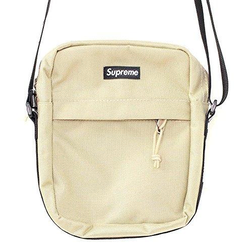 (シュプリーム) SUPREME 【18SS】【Shoulder Bag】ボックスロゴナイロンショルダーバッグ(ベージュ) 中古 B07FTJ3RST