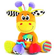 Playgro Textured On-the-Go Stem Toys, Discovery Friend Giraffe