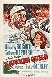 The African Queen Movie Poster (27 x 40 Inches - 69cm x 102cm) (1951) Style C -(Humphrey Bogart)(Katharine Hepburn)(Robert Morley)(Peter Bull)(Theodore Bikel)(Walter Gotell)