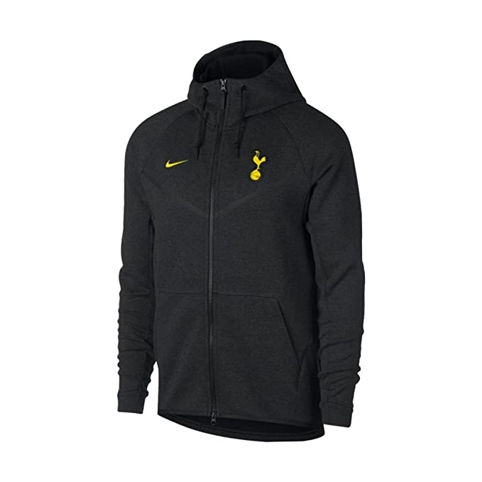 43f8310304badc 2017-2018 Tottenham Nike Tech Fleece Windrunner Jacket (Black ...