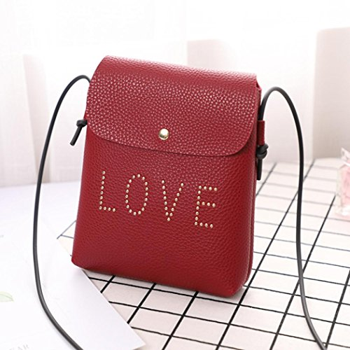 Clearance Fashion Leather Bag Sale Casual Classic Messenger for Bag Women Zipper Women's Vintage PU Ladies Bag Printed Red1 Handbag Sunday77 Tote Wine Butterfly Shoulder Flower drnUxOrCqw