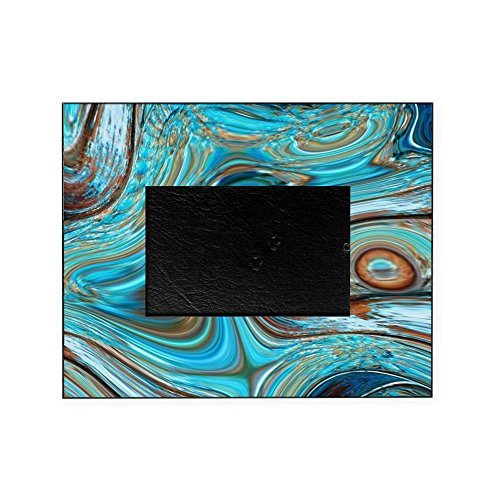 CafePress - Rustic Turquoise Swirls - Decorative 8x10 Picture Frame