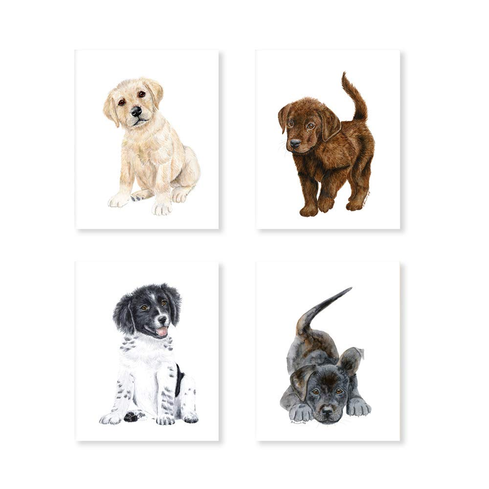 Farm Nursery Art White Print Various Sizes Available Playful Puppy Watercolor Nursery Wall Art Available In Various Sizes Black