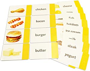 Stages Learning Protein & Dairy Sight Words Matching Cards by The Makers of Language Builder