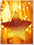 Christmas Tree Star Decoration Paper Print Wall Art (48in. x 36in.)