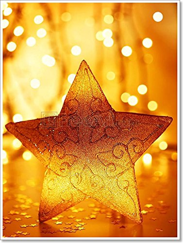Christmas Tree Star Decoration Paper Print Wall Art (48in. x 36in ...