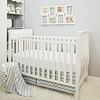 Image of Home and Kitchen American Baby Company 3 Piece Crib Bedding Set, Blue, for Boys and Girls