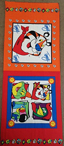 - Toucan Sam (Fruit Loops), Tony the Tiger (Frosted Flakes) and Dig'em Frog from Sugar Smacks Pillow Panel - (Great for Quilting, Sewing, Craft Projects, Throw Pillows & More) 17