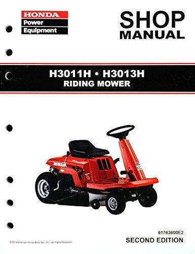 Honda H3011 H3013 H Model Riding Mower Service Repair Shop Manual (Mower Riding Manuals)