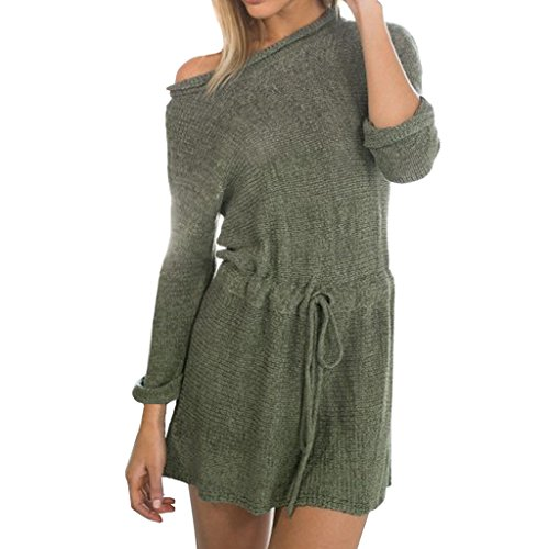 HOOYEE Drawstring Knitted Sweater Paragraph