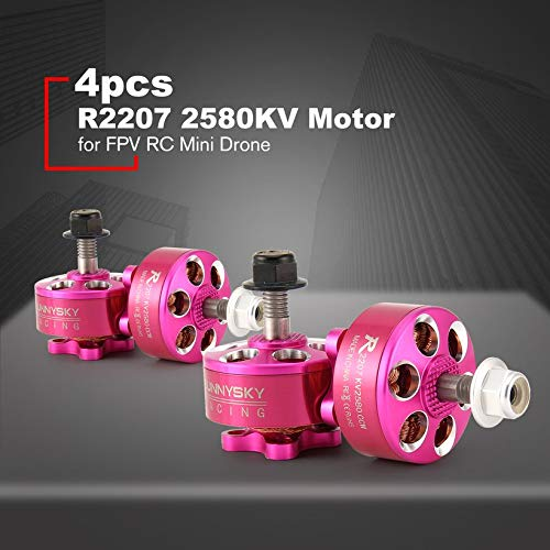 4pcs SUNNYSKY R2207 CW/CCW 2580KV 3-4S Brushless Motor for FPV RC Mini Drone by Wikiwand (Image #2)