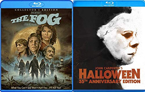 Director's Collection - John Carpenter Double Feature The Fog (Collector's Edition) & Halloween (1978) 2-Blu-ray Classic Horror Bundle ()