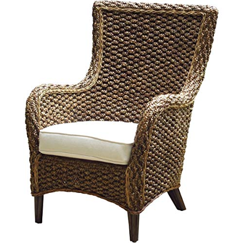 Panama Jack Sunrooms PJS-1001-ATQ-LC Sanibel Lounge Chair with Cushion, Light Beige