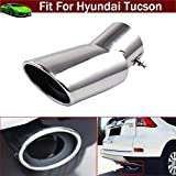 hyundai tucson chrome accessories - Car Truck Modification Chrome Stainless Steel Exhaust Rear Tail Pipe Tip Tailpipe Muffler Pretector Cover Trim Silver Color Custom Fit For Hyundai Tucson 2011 2012 2013 2014 2015 2016 2017 2018