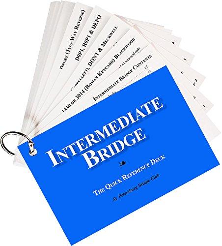Deck Club (Intermediate Bridge - The Quick Reference Deck - St. Petersburg Bridge Club - Great Tool to Help Your Bridge Game)
