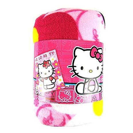 Amazon Sanrio Hello Kitty Plush Throw Blanket Flower Home Cool Hello Kitty Fleece Throw Blanket