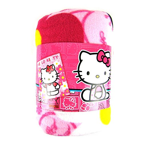 (Sanrio Hello Kitty Plush Throw Blanket : Flower)