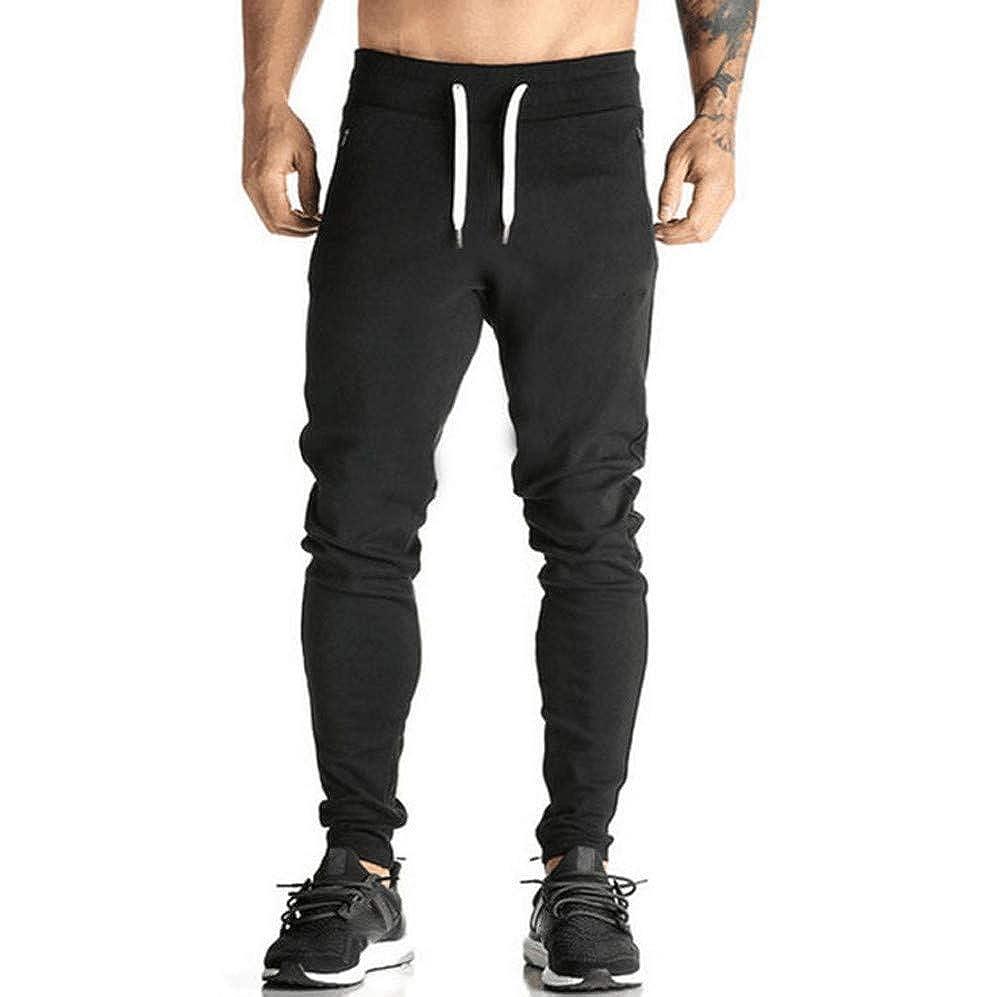 JiaMeng Hombre Pantalón Deportivo Jogger de chándal Harem Pantalones Casual Jogger Danza Sportwear de Hombres