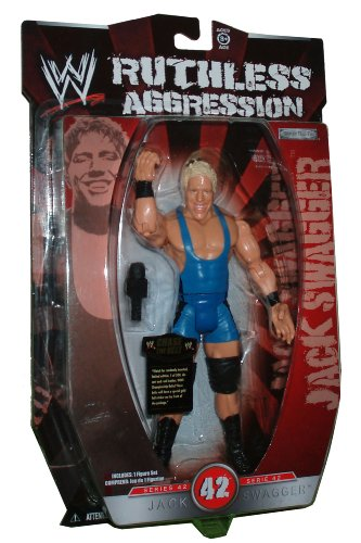 WWE Wrestling Ruthless Aggression Series 42 Jack Swagger Action Figure (Jakks Pacific) (Jack Swagger Toys)