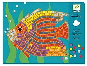 Djeco - Juego de diseñar con mosaicos, diseño de peces