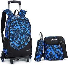 128d9cf771 YUB Car School Bag Drawbars Trolley Bag B…  42.99. Bestseller. (1). DEAL OF  THE DAY. ENDS IN. Meetbelify 3Pcs Rolling Backpack Boys ...