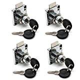 BTMB 4 Pcs Security Cylinder Head Table Drawer Cabinet Locker Lock w 8 Keys (Keyed Different)