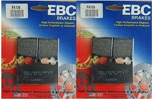 EBC Kevlar Organic Front Brake Pads (2 Sets) for Both Calipers 1995-2002 Kawasaki ZX600 Ninja ZX-6R / FA158