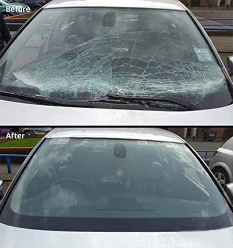 Yeyll Automotive Glass Nano Kit de r/éparation de pare-brise de voiture Kit de r/éparation de vitres de voiture Kit de r/éparation de fissures R/éapprovisionneuse pour vitres de voiture Noir