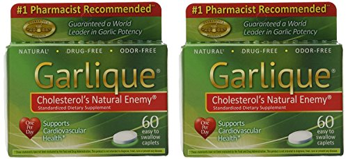 Garlique Dietary Supplement Caplets, 60 Count (Pack of -