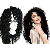 A2ZWIG African American Long Deep Curly Heat Resistant Synthetic Hair Wigs For Black Women 24 Inches