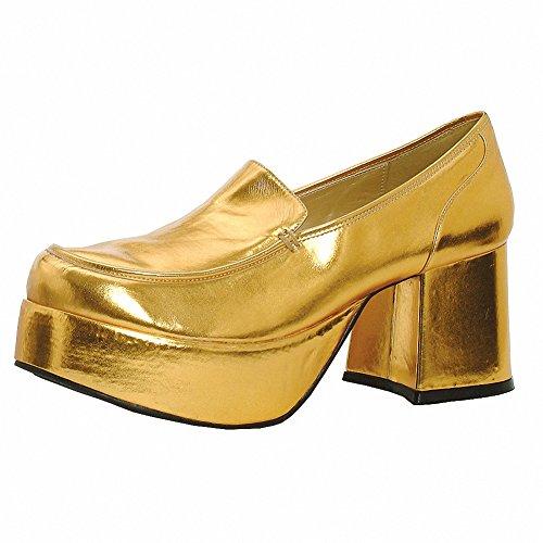 Ellie 1031 312-daddio Hombres Comfortable 3 Heel Pimp Shoe Gold