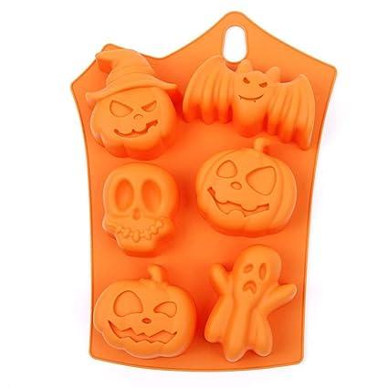 Kentop - Stampo in silicone a forma di pipistrello e zucca per torte ... 3d0c56964a86